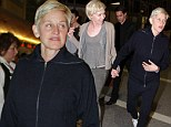 Shouldn't you be in bed? Flu-stricken Ellen DeGeneres soldiers on as she jets Down Under with wife Portia de Rossi
