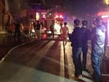Blaze: Naked punters had no time to dress when the fire spread to the bathhouse from a neighbouring building