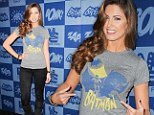 Holy Batgirl! Katherine Webb swaps her Splash swimsuit for superhero top at TV party
