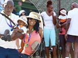 Richard Williams, the father of Olympians Venus and Serena, was spotted a a Miami tournament with his new wife Lakeisha Graham and their 7-month-old son Dylan.