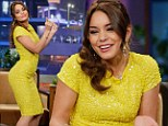 'There's a lot of booty poppin' involved': Vanessa Hudgens sparkles in yellow as she shows off her dance moves on Jay Leno