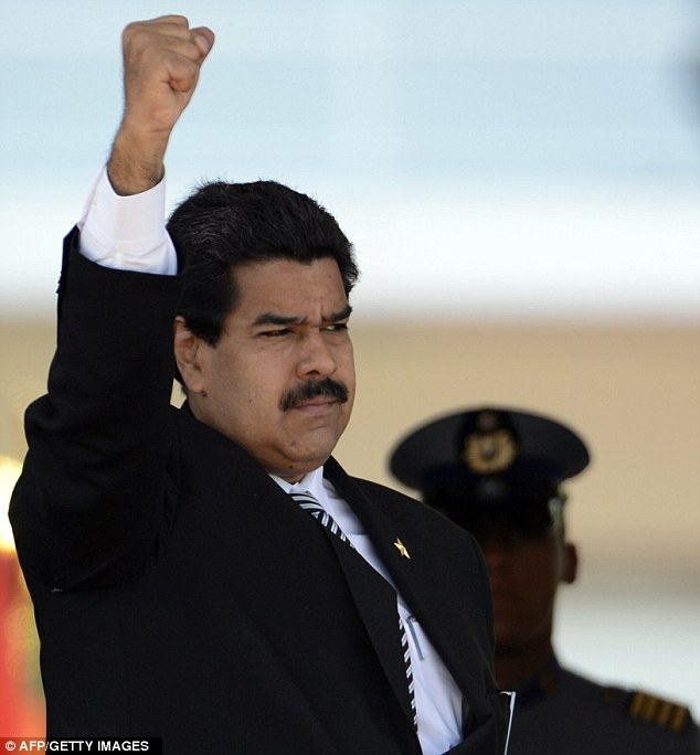 New president: Nicolas Maduro was sworn in Friday as Venezuela's acting president, using the occasion to launch blistering attacks on the U.S.