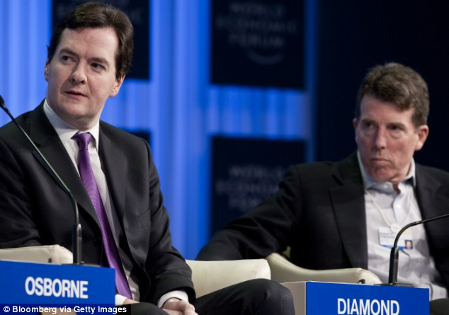 Finance pals: George Osborne,pictured in 2011 with Bob Diamond, disgraced former chief executive officer of Barclays, who was a regular guest at the Treasury