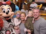 Family time: Rebecca Gayheart and Eric Dane pose with their girls Georgia and Billie at Disney Live! Mickey's Music Festival at Madison Square Garden on Saturday afternoon