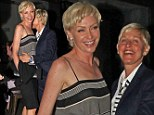 Smitten! Ellen DeGeneres nuzzles into wife Portia de Rossi as couple enjoy a romantic date night Down Under