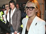 The Honeymooners: Kate Winslet and husband Ned Rocknroll are all smiles at the opening night of Book Of Mormon