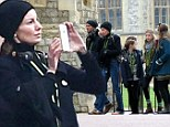 Faith Hill and Tim McGraw and family visit Windsor Castle in England on Wdnesday