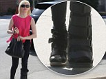Accident prone actress Rose McGowan was spotted in a cast again in Studio City, Los Angeles