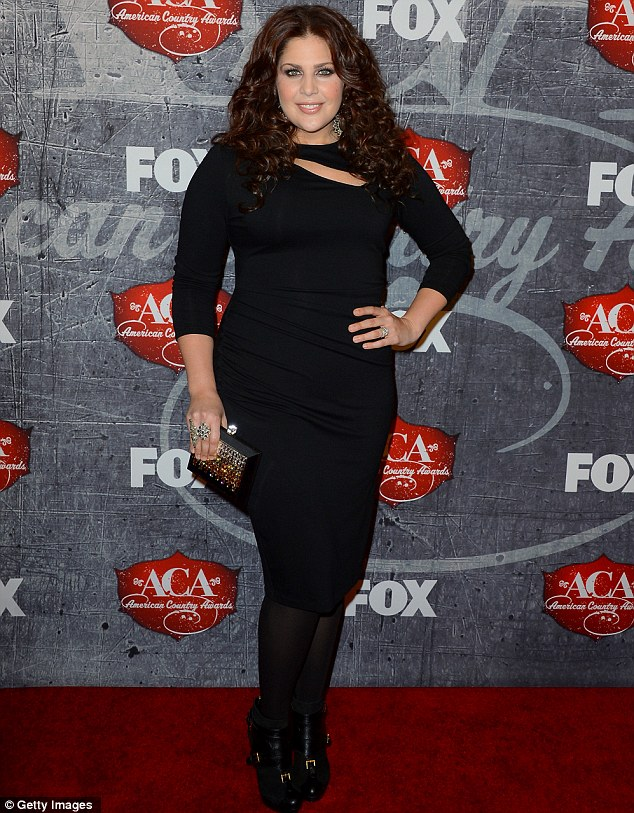 Curves: The blooming singer stole the show at the 2012 American Country Awards in Las Vegas in December