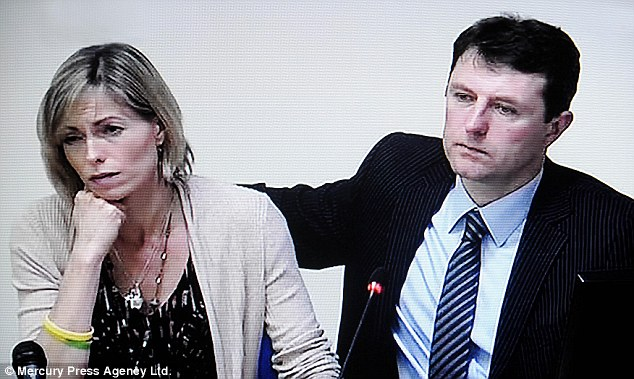Kate McCann and Gerry McCann, giving evidence to Lord Justice Leveson's media ethics inquiry, at the Royal Courts of Justice in London
