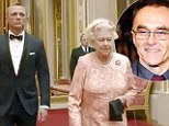 Danial Craig with the Queen and Danny Boyle inset