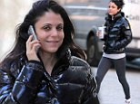 Charming lady: Bethenny Frankel headed to the gym in New York, on Friday