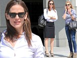 Off to a business meeting? Jennifer Garner ditches usual blue jeans and flats for pencil skirt and high heels