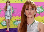 Ready for the silver screen! Disney star Bella Thorne lights up the purple carpet at the Kids¿ Choice Awards