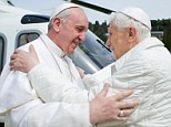 Pope Francis met Benedict, pope emeritus, today at the papal retreat where the retired pontiff is staying