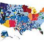 Madness by counties: