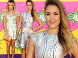Jessica Alba and Ashley Tisdale at the 2013 Kids' Choice Awards