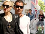Gwen Stefani and Gavin Rossdale take their children to see the Easter Bunny