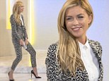 Wild, wild WAG: Abbey Crouch shows her animal magnetism in a leopard-print trouser suit