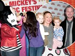 Rebecca Gayheart, Eric Dane and Bethenny Frankel were among celebrities attending Disney Live! Mickey's Music Festival at Madison Square Garden on Saturday afternoon