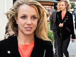 Britney Spears eases bad hair day with meatballs alongside her manager and new boyfriend