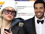Now Amanda Byne tweets graphic message about her vagina to Drake in bizarre downward spiral
