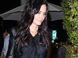 Making an entrance: Courteney Cox ducked into Los Angeles restaurant Mr Chow on Saturday night
