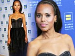 Who doesn't love a Scandal? Kerry Washington takes the plunge in low-cut gown at Human Rights Campaign event