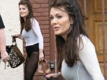 Lisa Vanderpump emerged from rehearsal in Los Angeles on Saturday showing off her lean legs in a black leotard, tights and ballet pink workout top