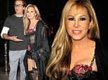 That's one way to get his attention! Adrienne Maloof wears very racy lingerie as she attends Perez Hilton's pajama party with toyboy lover Sean Stewart