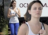 Bare-faced beauty! Makeup-free Leighton Meester shows off her curvy figure in tight workout gear after yoga class