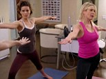 Going for the burn! Kate Beckinsale shows Chelsea Handler some of her sexy yoga moves in talk show skit