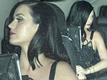 The 28-year-old singer changed into a lingerie-inspired top to rub shoulders with other stars at the Chateau Marmont in West Hollywood, California amid reports of their split.