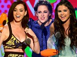 Kids' Choice Awards 2013: Fans forgive year of love splits and drama to crown Kristen Stewart, Katy Perry and Selena Gomez