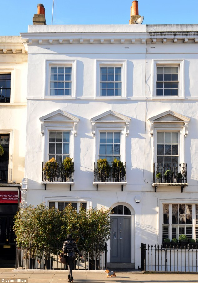 Fit for a diplomat: The former Nicaraguan Embassy in West London has been transformed into a three-bedroom family home and is now on the market for £3,5m