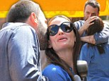 So in love! Ben Affeck and Jennifer Garner engage in rare public display of affection on day out with their girls