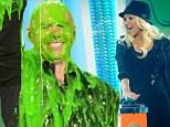 Kids' Choice Awards 2013: Pitbull and Christina Aguilera kick off the slimy ceremony surrounded by tiny lookalikes