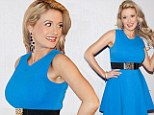 Wowsers! Holly Madison shows off incredible post pregnancy hourglass shape in fitted blue dress