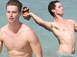 Patrick Schwarzenegger played ball on Miami Beach on March 24