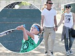 It's swing time! Gwen Stefani and Gavin Rossdale cheer on their boys at baseball match