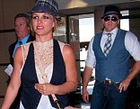 She's found her new Justin! Britney Spears and Ordinary Dave wear matching waistcoats and hats as they enjoy Vegas trip