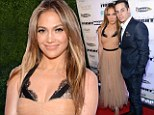 Decidedly demure! Jennifer Lopez foregoes her usual skin-baring evening wear for a date night with Casper