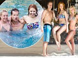 Group vacation: Dancing with the Stars pros Anna Trebunskaya, Chelsie Hightower and Louis Van Amstel as they vacationed together at the resort Villa del Palmar Cancun in Cancun, Mexico