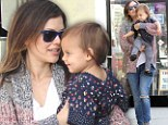 Girls¿ day out! Rachel Bilson takes her goddaughter shopping in West Hollywood