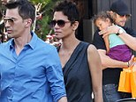 Planning her future: Halle Berry, pictured at Bristol Farms in LA over the weekend, will move to France with Olivier Martinez when her daughter turns 18