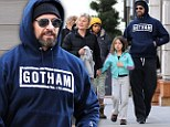 A supportive wolf pack! Hugh Jackman is accompanied to the gym by his wife and children as he continues to maintain his Wolverine shape