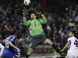 Wanted: Asmir Begovic played for Bosnia on Friday in a World Cup qualifier against Greece