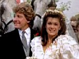 Blushing bride: Photographs of Lisa Vanderpump on her wedding day in 1982 were shown on last night's episode of Real Housewives of Beverly Hills