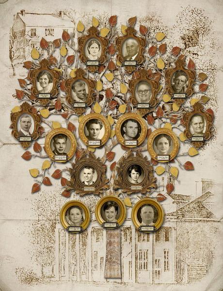 10 идей для генеалогического древа в интерьере