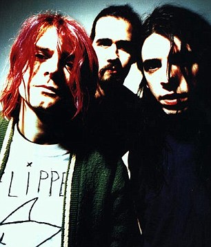 Icon: Kurt with his group, Nirvana